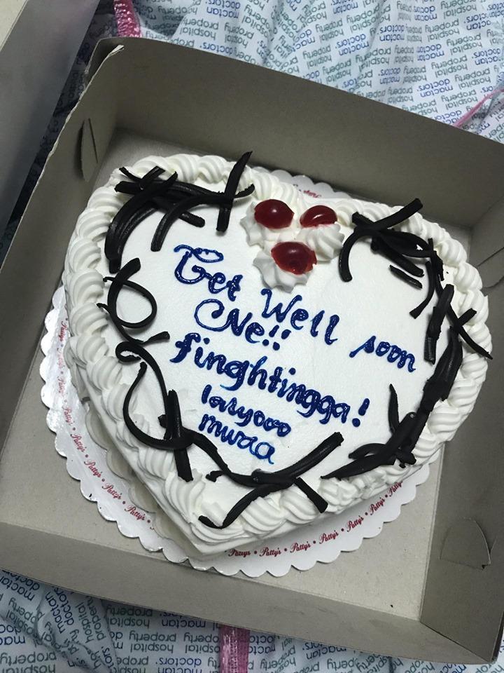 セブ入院中のお見舞いケーキ