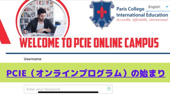 PCIE(オンラインプログラム)の始まり